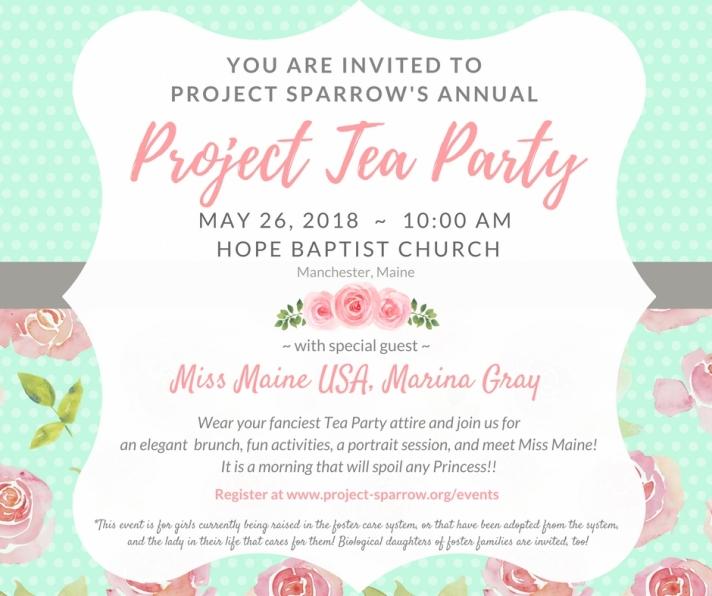Facebook Post tea party
